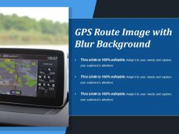 Gps Route Image With Blur Background