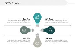 Gps Route Ppt Powerpoint Presentation Ideas Structure Cpb