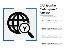 Gps Tracker Globally And Pointer