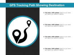 Gps Tracking Path Showing Destination