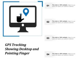 Gps Tracking Showing Desktop And Pointing Finger