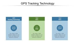 GPS Tracking Technology Ppt Powerpoint Presentation Show Master Slide Cpb