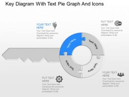 gq Key Diagram With Text Pie Graph And Icons Powerpoint Template
