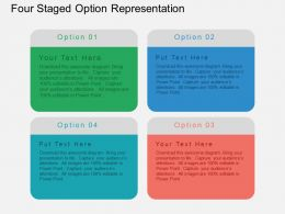 Gr Four Staged Option Representation Flat Powerpoint Design