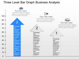 gr Three Level Bar Graph Business Analysis Powerpoint Template