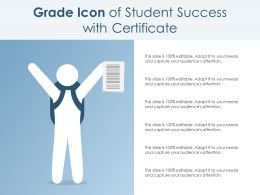 Grade Icon Of Student Success With Certificate