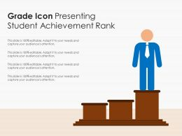 Grade Icon Presenting Student Achievement Rank