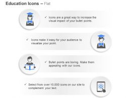 Graduate Male Female Reading Online Science Classes Ppt Icons Graphics