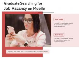 Graduate Searching For Job Vacancy On Mobile