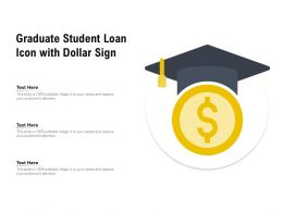 Graduate Student Loan Icon With Dollar Sign