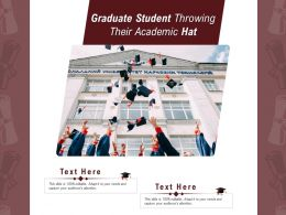 Graduate Student Throwing Their Academic Hat