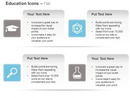 Graduation Cap Nuclear Cycle Magnifier Flask Ppt Icons Graphics