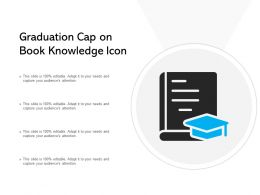 Graduation Cap On Book Knowledge Icon