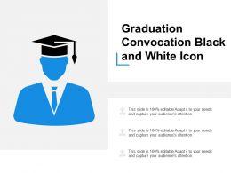 Graduation Convocation Black And White Icon