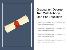 Graduation Degree Tied With Ribbon Icon For Education