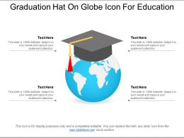 Graduation Hat On Globe Icon For Education
