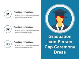 Graduation Icon Person Cap Ceremony Dress
