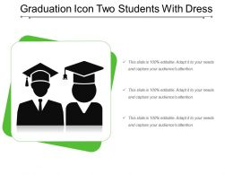 Graduation Icon Two Students With Dress