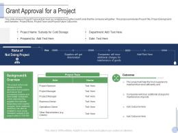 Grant Approval For A Project Raise Grant Facilities Public Corporations Ppt Mockup