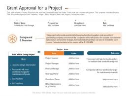 Grant Approval For A Project Raise Investment Grant Public Corporations Ppt Designs