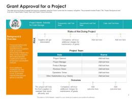 Grant Approval For A Project Raise Non Repayable Funds Public Corporations Ppt Diagrams