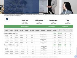 Grant Approval Project Tracking Template Raise Grant Facilities Public Corporations Ppt Introduction
