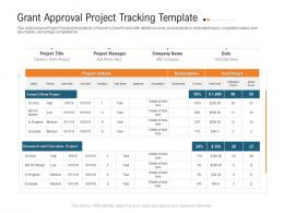 Grant Approval Project Tracking Template Raise Investment Grant Public Corporations Ppt Mockup