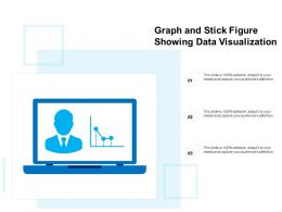 Graph And Stick Figure Showing Data Visualization