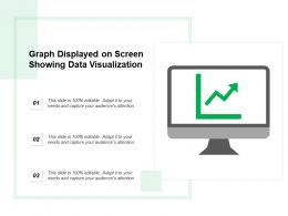Graph Displayed On Screen Showing Data Visualization