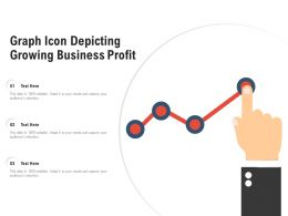 Graph Icon Depicting Growing Business Profit