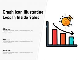 Graph Icon Illustrating Loss In Inside Sales