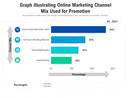 Graph Illustrating Online Marketing Channel Mix Used For Promotion