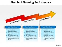 graph of growing performance shown by zig zag arrow in 3d powerpoint templates 0712