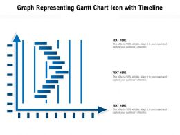 Graph Representing Gantt Chart Icon With Timeline
