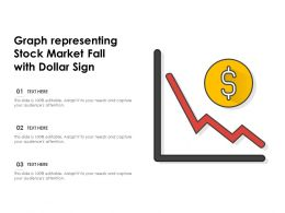 Graph Representing Stock Market Fall With Dollar Sign