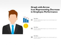 Graph With Arrow Icon Representing Decrease In Employee Performance