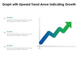 Graph With Upward Trend Arrow Indicating Growth