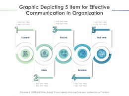 Graphic Depicting 5 Item For Effective Communication In Organization