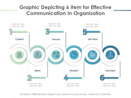 Graphic Depicting 6 Item For Effective Communication In Organization