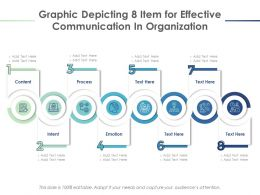 Graphic Depicting 8 Item For Effective Communication In Organization
