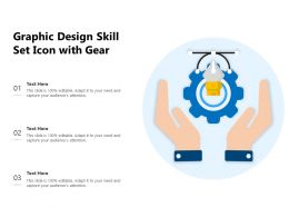 Graphic Design Skill Set Icon With Gear