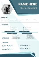 Graphic Designer Curriculum Vitae Business Resume A4