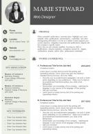 Graphic Designer CV Example Template