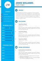 Graphic Designer Resume CV Powerpoint Presentation Template