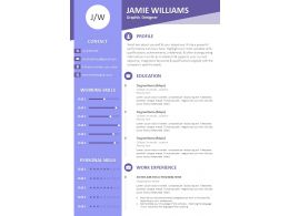 Graphic Designer Resume CV Template