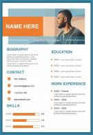 Graphic Designer Resume Design Template Curriculum Vitae Ppt