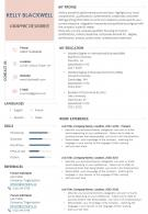 Graphic Designer Resume Sample Format