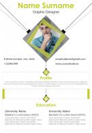 Graphic Designer Resume With Profile Summary Sample Template