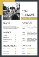 Graphic Designer Sample Resume Format