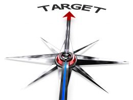 Graphic For Target Stock Photo